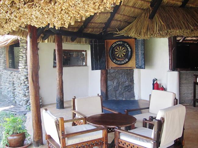 Pool bar and dartboard